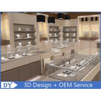 Quality Fashion Jewelry Store Interior Showroom Display Cases MDF + Tempered  Glass for sale