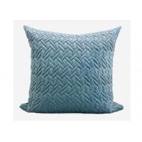 Quality Geometric Embroidered Decorative Throw Pillows 100% Velvet For Bed / Chair for sale
