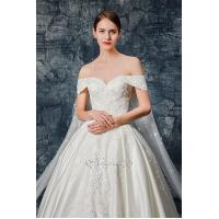 Quality Sweetheart Neckline Lace Applique Satin Wedding Gown for sale