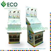 Two Shelves Folding Cardboard Floor Display With Separate Counter Display For Car Accessory