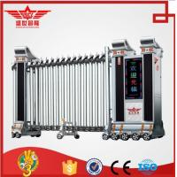 China stainless steel folding gate barrier system steel doors with remote control for factory-J1418 on sale