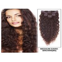 Buy Colored Long Brazilian Hair Extensions , Tangle Free Brazilian Weft Hair Extensions With Clips at wholesale prices