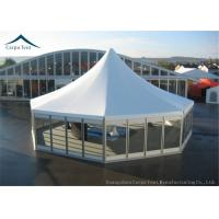 Quality High Peak Glass Wall Big Marquee Tents  5m By 5m With  Wooden Floor for sale