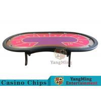 Buy cheap 10 Seats Casino Poker Table With environmentally friendly PU leather armrest from wholesalers