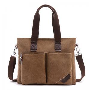 Quality Business Retro Male Laptop Oblique Cross Shoulder Bag With 2 Front Pockets for sale