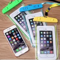 China IPX8 Water-Resistant Phone Dry Bag Waterproof Phone Pouch with Fluorescent Frame for Outdoor Water Activities on sale