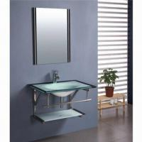 Quality Tbathroom Cabinets Includes Toughened Glass Basin, Mirror for sale