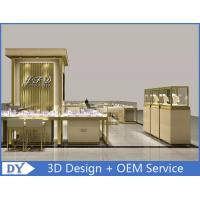 Buy OEM Custom Luxury Glass Jewelry Showcase Counter With Led at wholesale prices