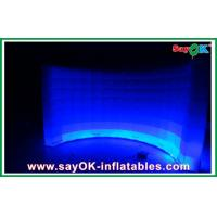 Quality White Inflatable Air Tent Waterproof , Curved Inflatable Wall For Exhibition for sale