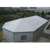 Buy 10m * 20m Hot Sale Aluminium Frame Large Wedding Marquee Mixed Tents With Luxury White Color And Linings Curtain at wholesale prices