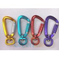Quality High Security Aluminum Snap Hook Carabiner With Eyelet Multi Colours Loaded 400KG for sale