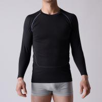 Quality Gym T-shirt,  seamless OEM man sports Shirt,  long sleeve,   XLLS003,  Functional underwear, for sale