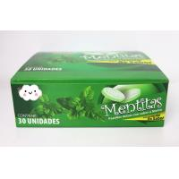 Quality 8g Strong Mint Flavor Compressed Candy  packed in Plastic Round Box for sale