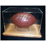 Quality fashion leather medal display box,acrylic display box with lock,football case for sale