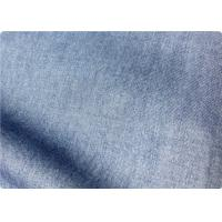 Quality Light Blue Lightweight Denim Fabric By The Yard For Trousers / Bedding for sale