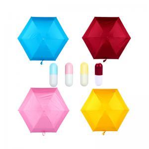 Quality Five Folding Sun / Rain Mini Pocket Umbrella , Mini Capsule Umbrella For Women for sale