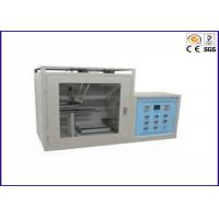 China PLC Control Horizontal / Vertical Flammability Tester , PV 3357 UL Test Equipment on sale
