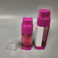 Quality Dual Chamber Hdpe Inner 80ml Plastic Lotion Bottle With One Piece Actuator for sale