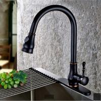 Quality ORB Brass Pull Out Spray Sanitary Kitchen Faucet Single Handle Water Tap for sale