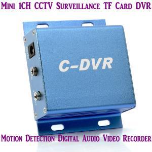 Quality Mini C-DVR 1CH CCTV Surveillance TF Card DVR Digital Audio Video Recorder Motion Detection for sale