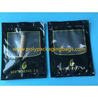 Buy SGS Black Moisturizing Bag Can Hold  4-6 / Cigar Bags With Transparent Window at wholesale prices