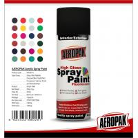 Quality Metal / Wood / Glass Acrylic Spray Paint Flexible With Strong Adhesive for sale