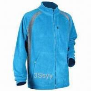 Quality Men's Fleece Jacket with Plastic Zipper for sale