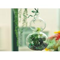 Quality Romantic Hanging Crystal Glass Cylinder Candle Holder Home Favor Blown for sale