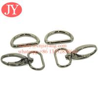 Quality metal gun snap hook and d rings for handbags for sale
