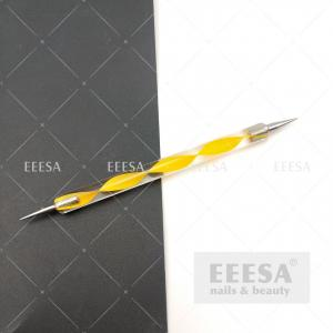 Quality Yellow Gel Ball 3D Drawing Rhinestone Pick Up Nail Art Pen Dotting Tool for sale