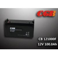 Quality CB121000F 12V 100Ah Valve Regulated Lead Acid Battery , Wind Supply Energy Storage AGM Battery for sale