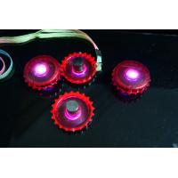 Quality Red Led Bottle cap style necklace, PS Material Flashing Cup for sale