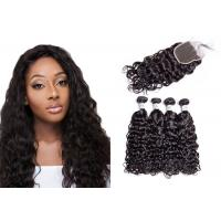 Quality No Tangling 8A Water Wave Hair Bundles For Black Woman Strong Adhesive Glue for sale
