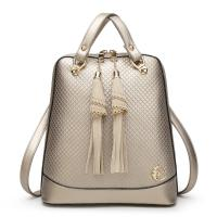 Buy cheap Solid Pretty Style Women Genuine Leather Female Backpack , Diamond Lattice from wholesalers