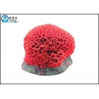Quality Red Honeycomb Corals Aquarium Fish Tank Decorations Non-toxic Polyresin for sale