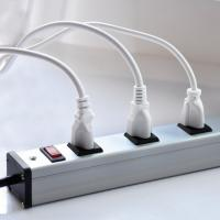 Buy 9 Ft Grounded Extension Cord Power Bar 9 Outlet With Integrated 15Amp Circuit Breaker at wholesale prices