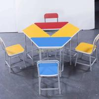 Quality Colorful Kid Children Study Desk and Chair Combination Table for sale