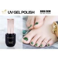 Quality Professional Green Glitter Gel Nail Polish For Nail Art Environmently No Fade for sale