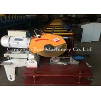 Quality Hydraulic Decoiler Cassette Round Pipe Down Spout Roll Forming Machine PLC Control 3 Tons Capacity for sale