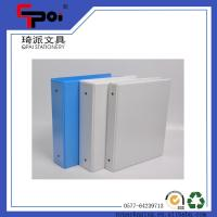 Quality A4 Metal 3 Ring Binder Opaque Plastic File Folder for sale
