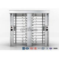Quality Stainless Steel Turnstile Gate Security Systems Built In Unique Fire Control Interface for sale