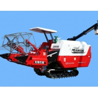 Quality Full Feeding Whirling Unloading Rice And Wheat Combine Harvester 74kw for sale