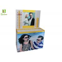Buy cheap Printed Sunglasses Cardboard Display Stands Cylindrical Pile Head from wholesalers