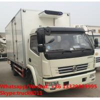 Quality wholesale good price dongfeng 4*2 RHD 6tons 120hp refrigerated truck with CARRIER reefer for fresh fruits and vegetables for sale