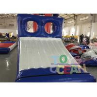 Quality Blue / White Inflatable Sports Game 0.9mm PVC Tarpaulin Water Slide Game For Park for sale