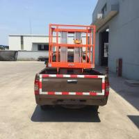 China Aerial Truck Mounted Lift Platform Scissor Lift Automobile Driving Dc Battery on sale