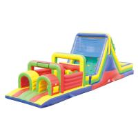 China Giant  Inflatable Obstacle Course / Water Inflatable Slip And Slide on sale
