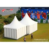 Quality Outside Pagoda Party Tent Enclosed Gazebo Tent Dia 10M With Sandwich Panel Wall for sale