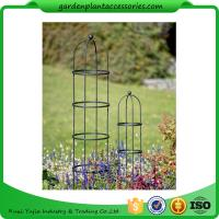 "Quality Tall Round Decorative Garden Plant Trellis Matte Black Color For Climbing Plant 5' Trellis is 9-3/4"" in diameter x 5' H for sale"