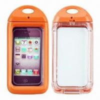 Quality IPX8-certified Swimming Cases for iPhone 4/4S, with 6m Depth Waterproof for sale